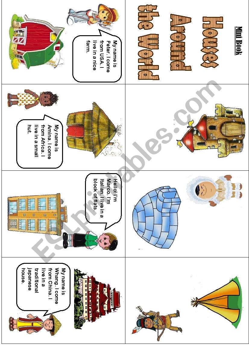 Houses around the world - ESL worksheet by sds26