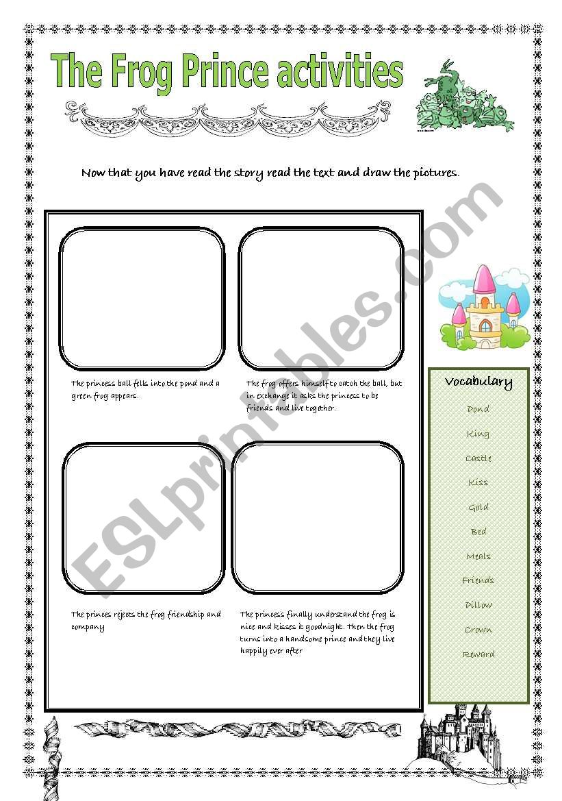 fairy tales the frog prince activities esl worksheet by pastanaga. Black Bedroom Furniture Sets. Home Design Ideas