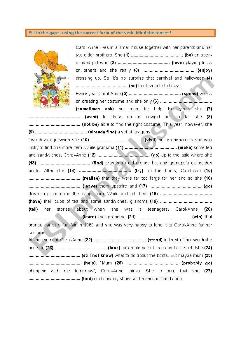 All Tenses (2) worksheet