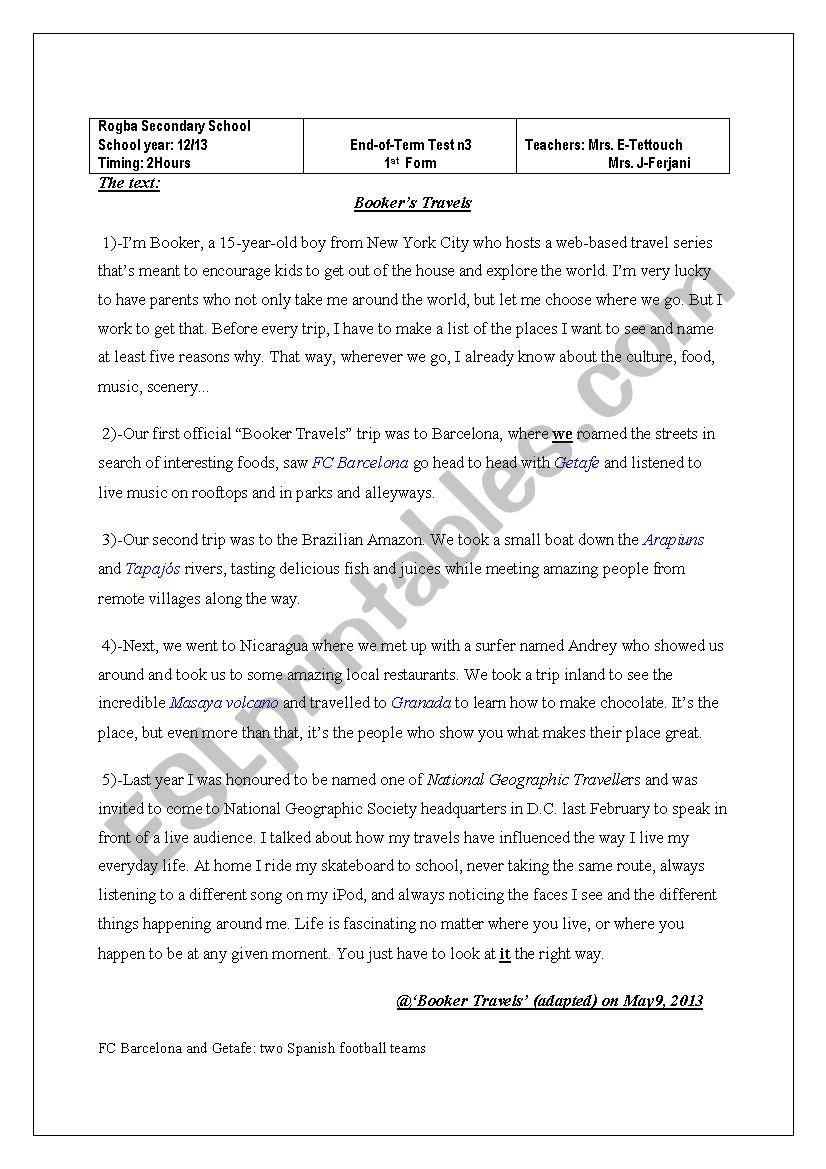 end-of-term test n3 worksheet