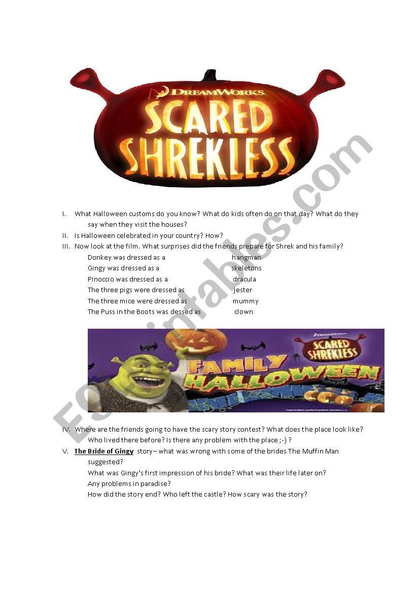 Scared Shrekless Halloween movie