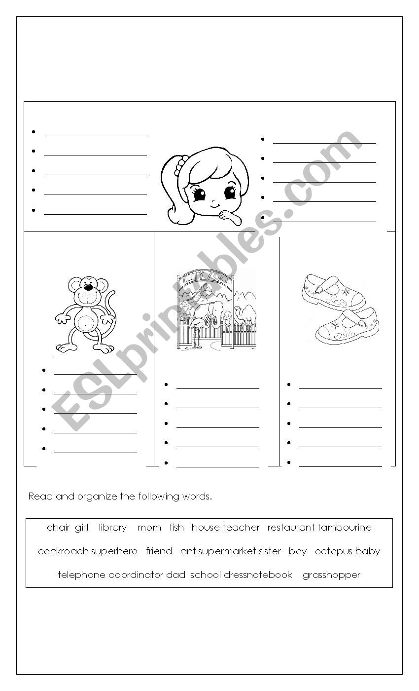 NOUNS worksheet