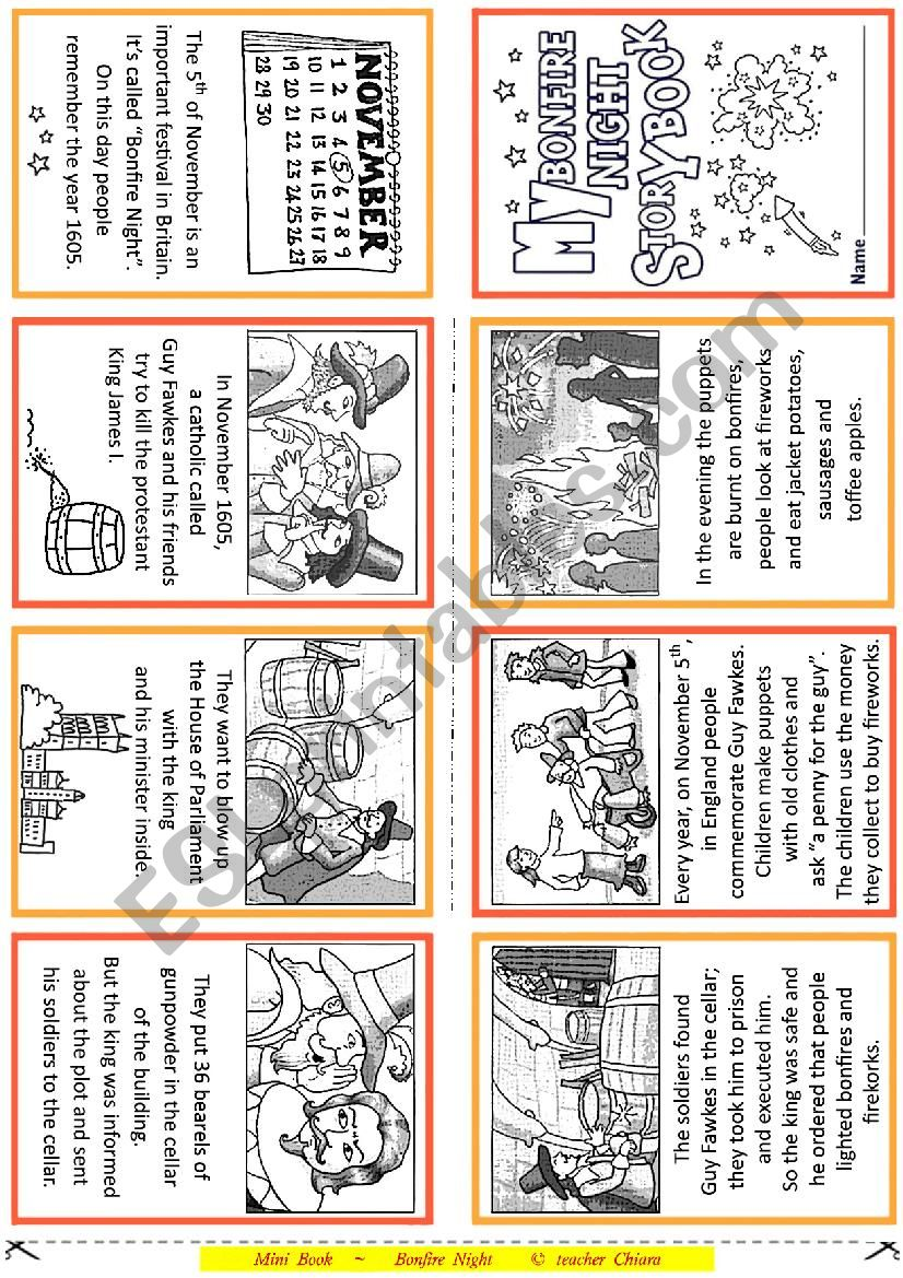 Bonfire Night Booklet worksheet
