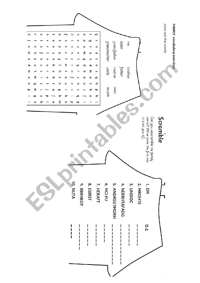 family members houses worksheet