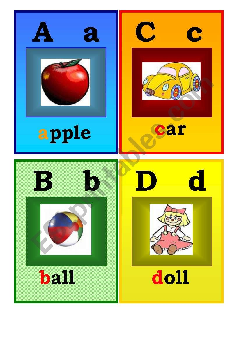 Alphabet flashcards worksheet