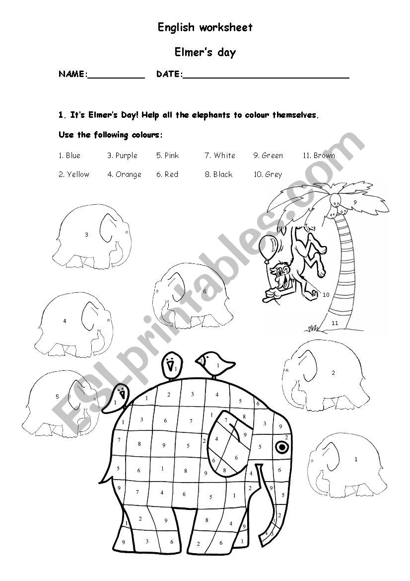 This is a picture of Elmer the Elephant Printable in printable free