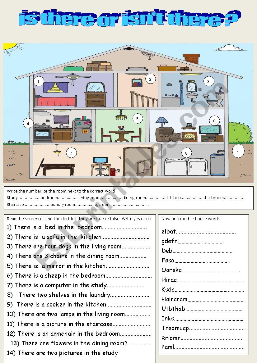 is there or isnt there? worksheet
