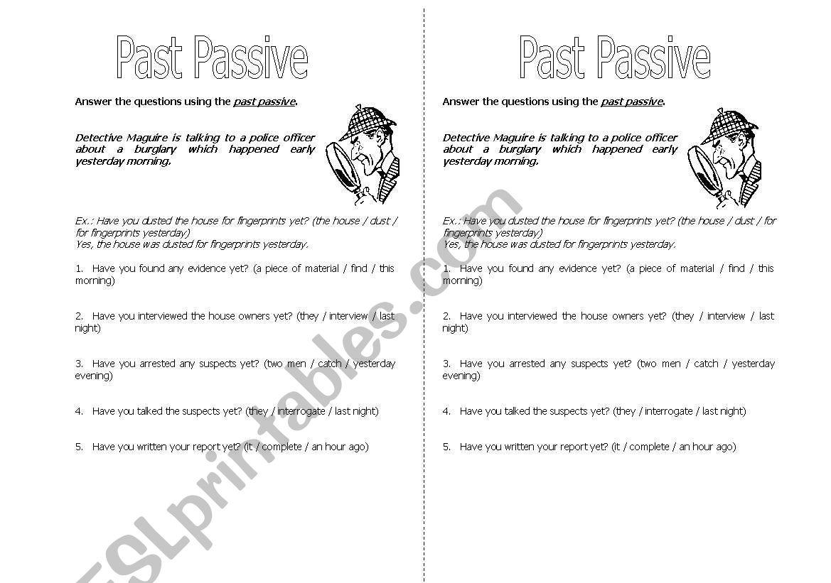 Past Passive worksheet