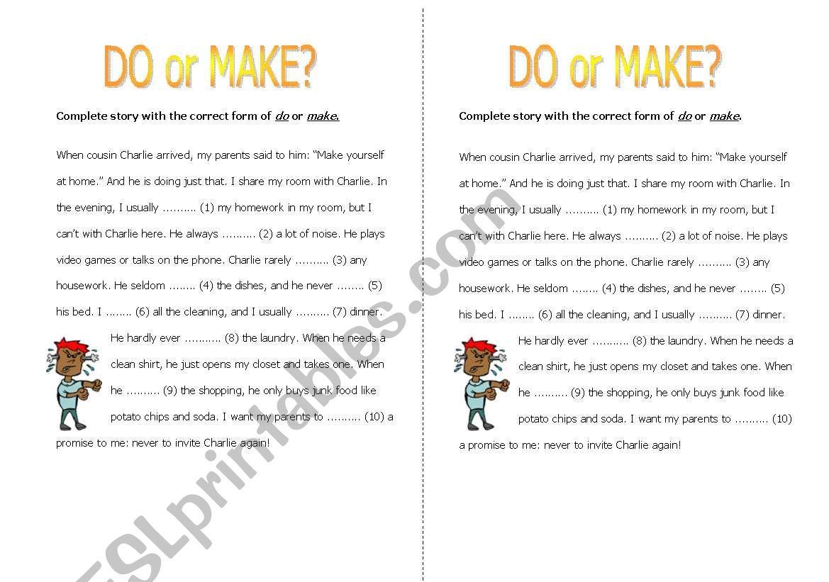 Do or make? worksheet
