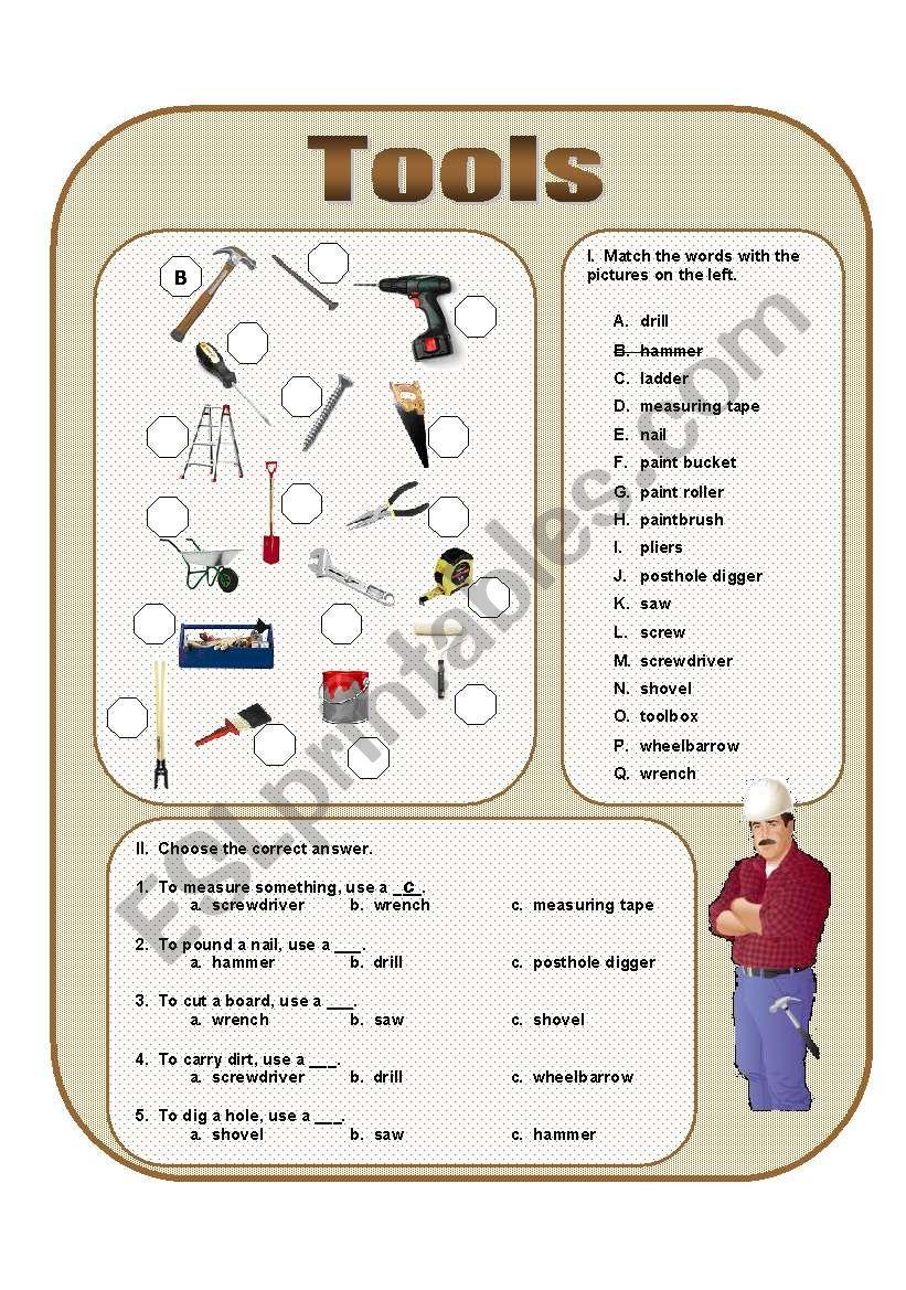 Tools worksheet