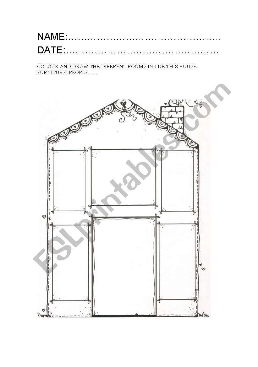 MY DREAMED HOUSE worksheet