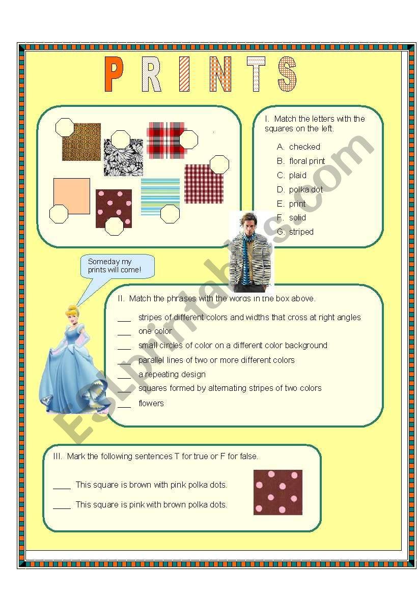 Prints worksheet