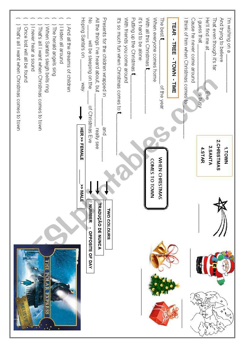 The Polar Express When Christmas Comes To Town.When Christmas Comes To Town Theme The Polar Express Esl