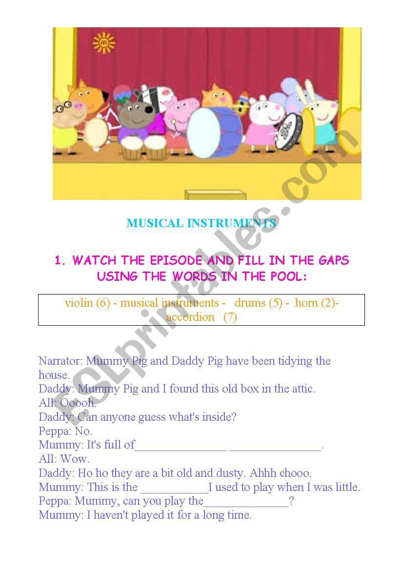 PEPPA PIG - MUSICAL INSTRUMENTS