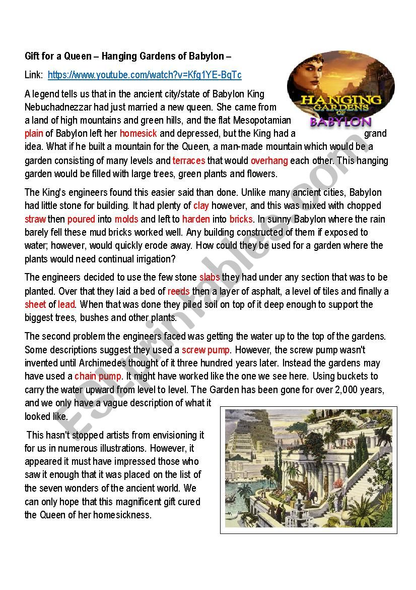 The Hanging Gardens of Babylon Class