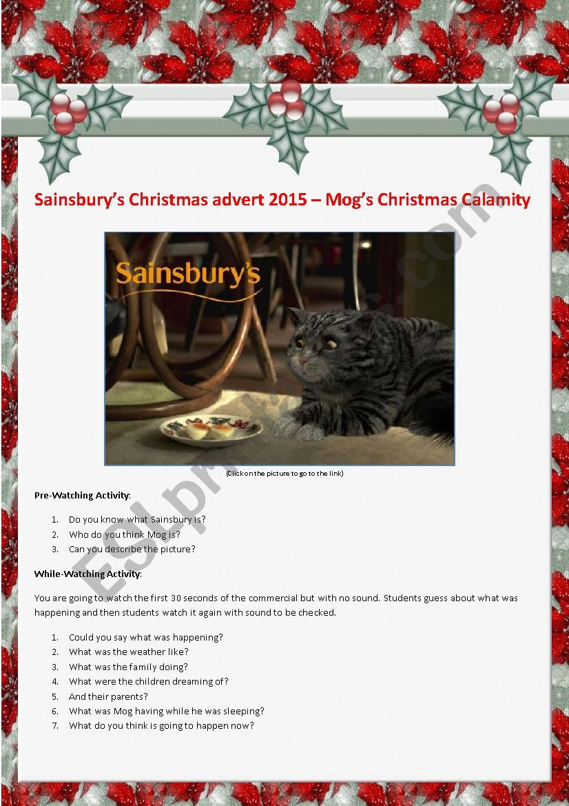 Video Activity: Sainsbury´s Christmas Advert 2015