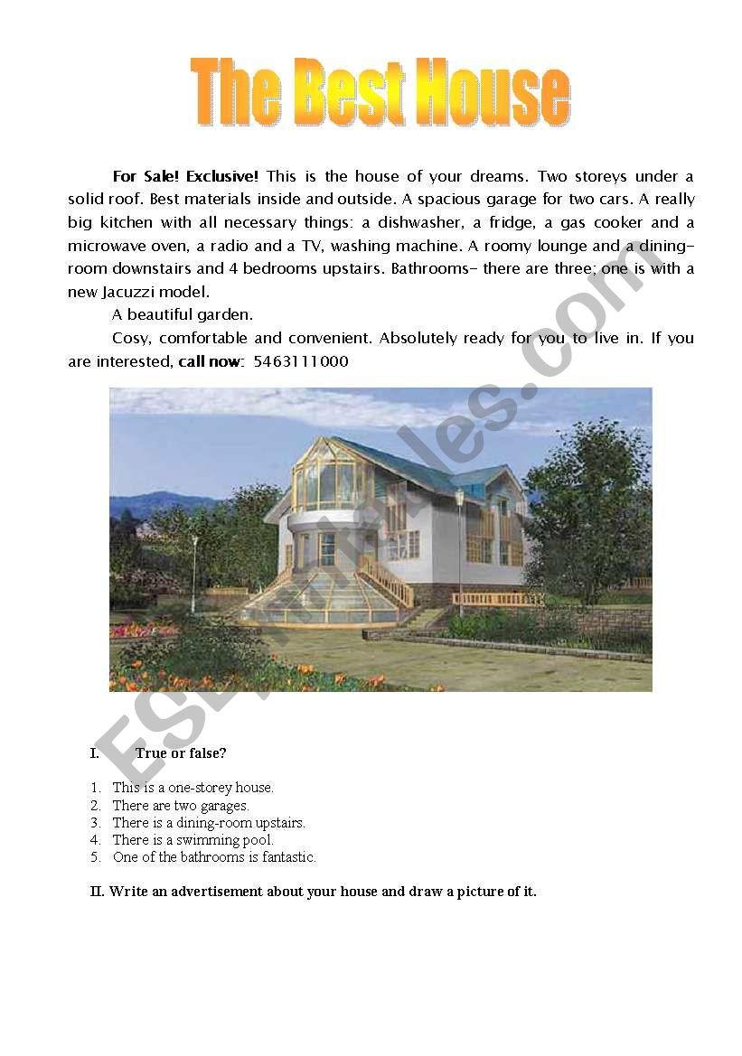 The best house worksheet