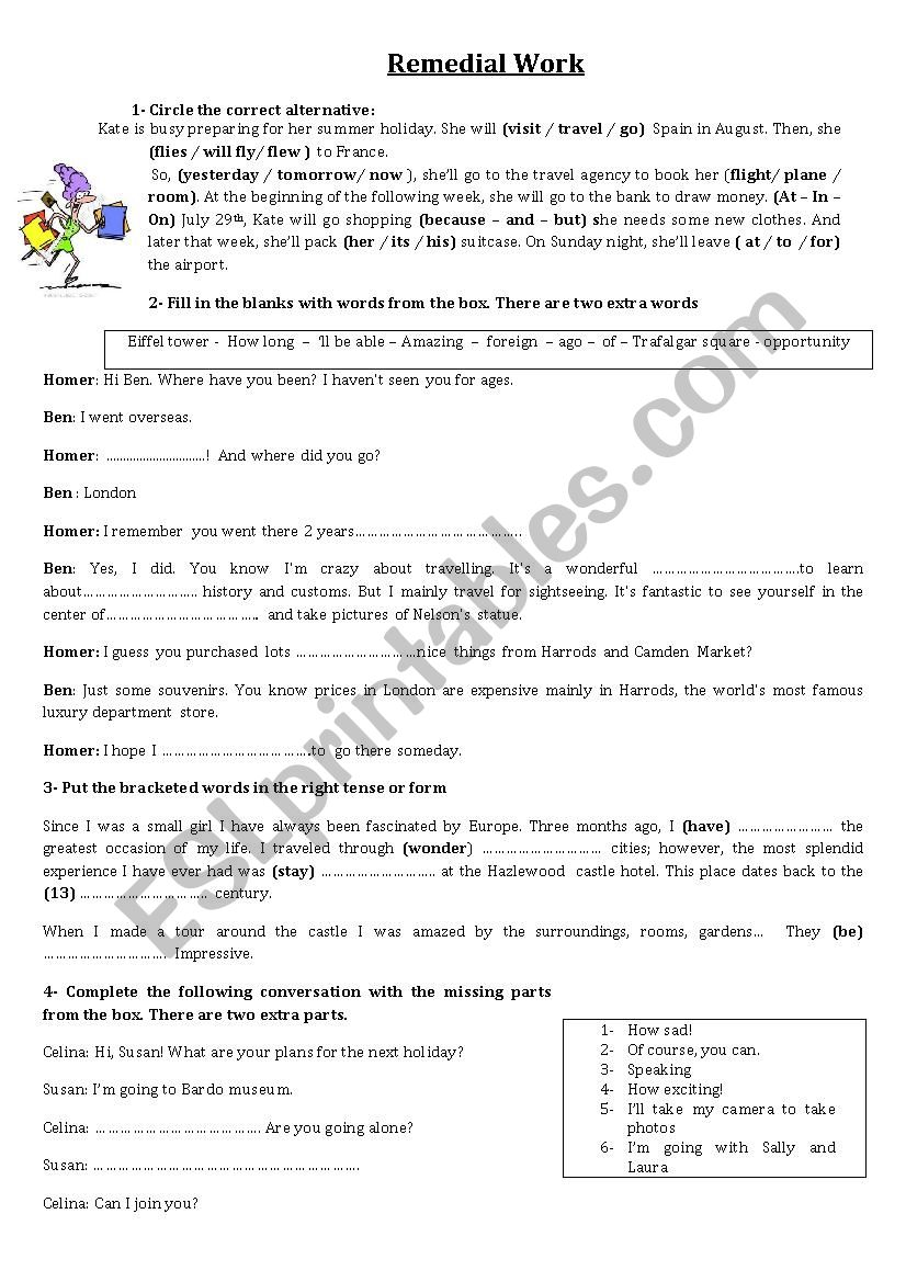 Remedial Work 1 worksheet
