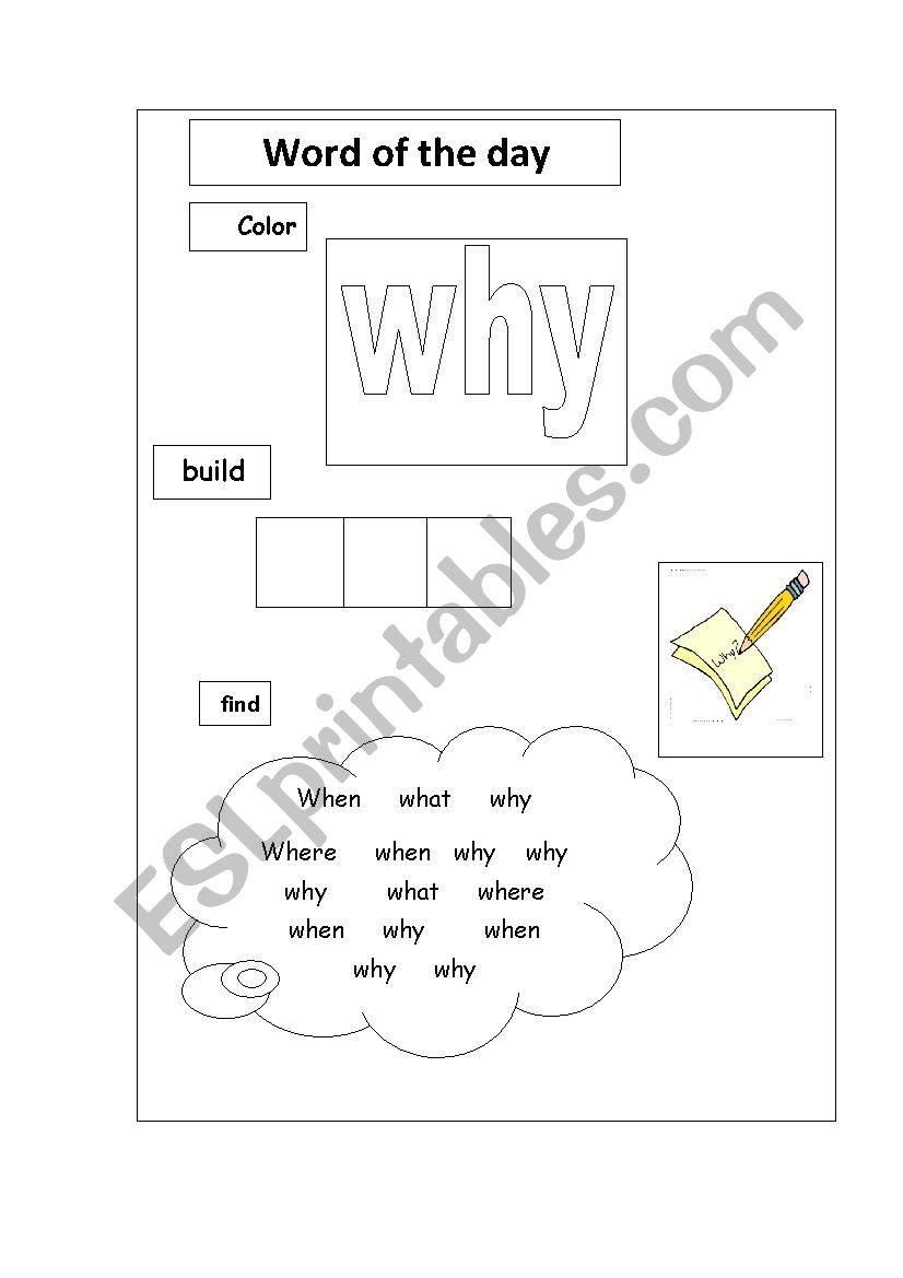 - Why Sight Word - ESL Worksheet By Brandgrand