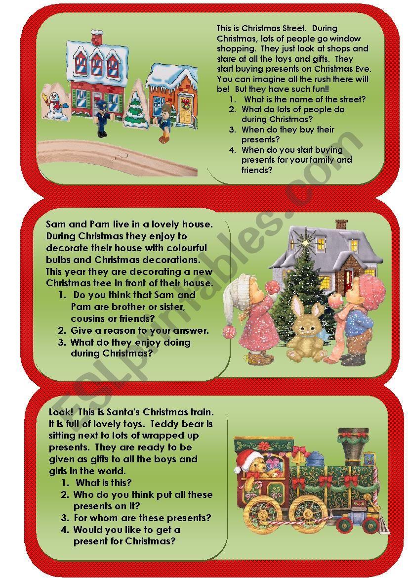 holiday reading comprehension worksheets pdf
