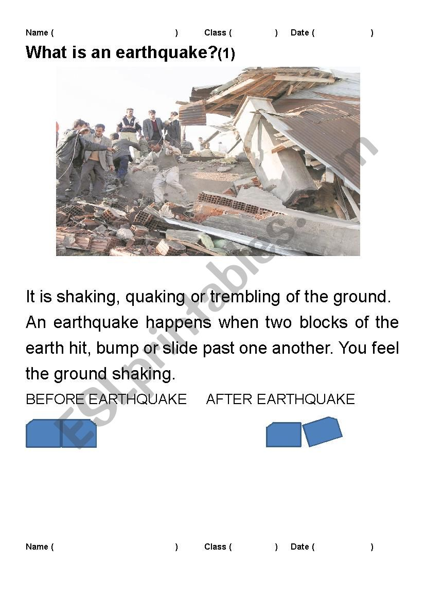 What do you know about earthquakes?