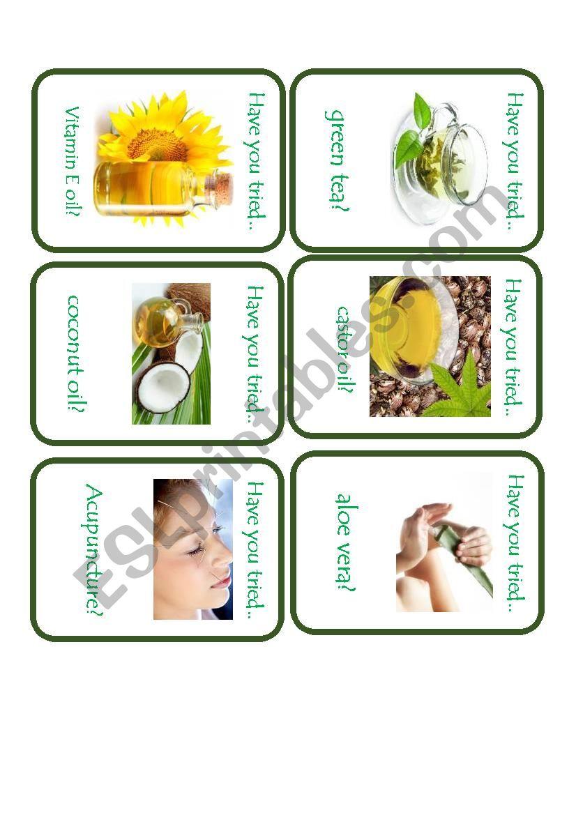 Natural Remedies Go FIsh worksheet