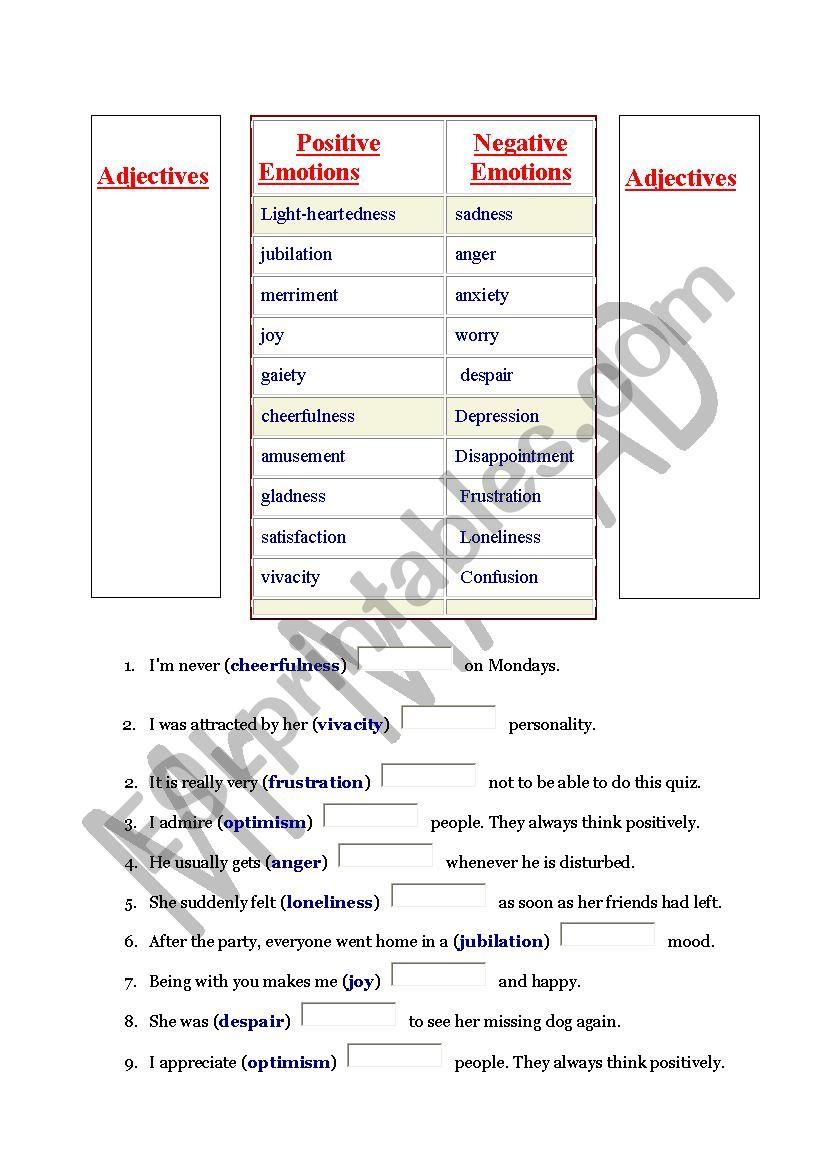 Moroccan bac students worksheet
