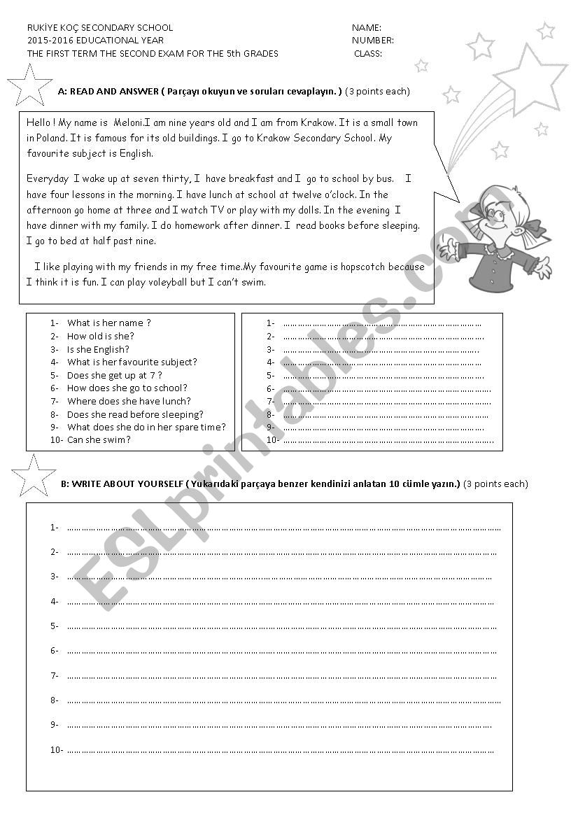 QUIZ worksheet