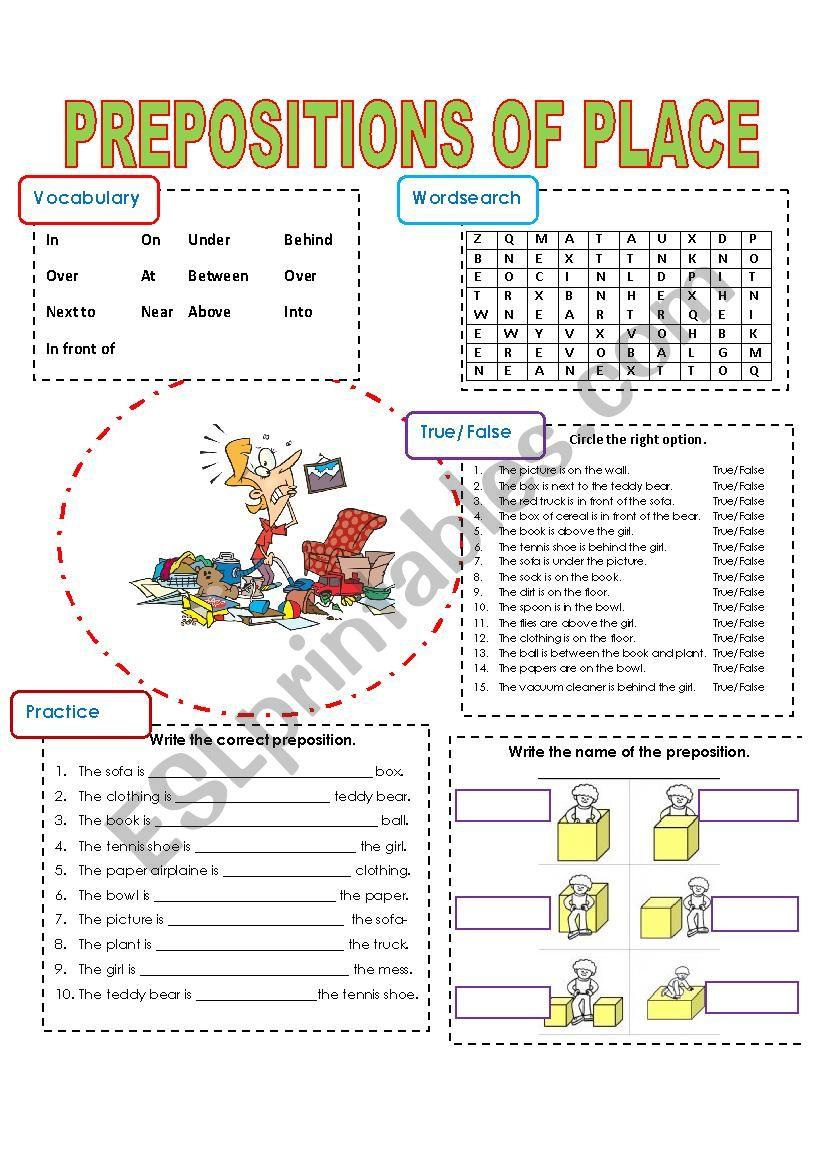 Preposition In Learn In Marathi All Complate: ESL Worksheet By Sonyta04
