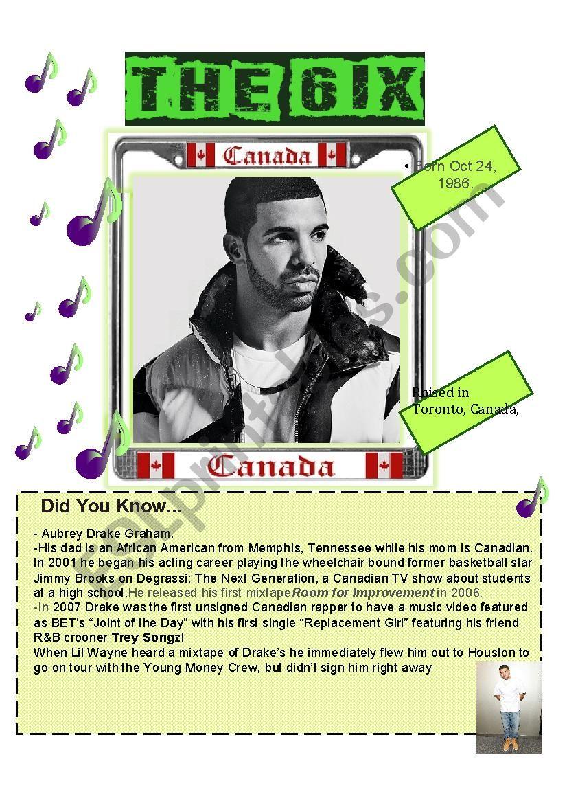 Drake worksheet