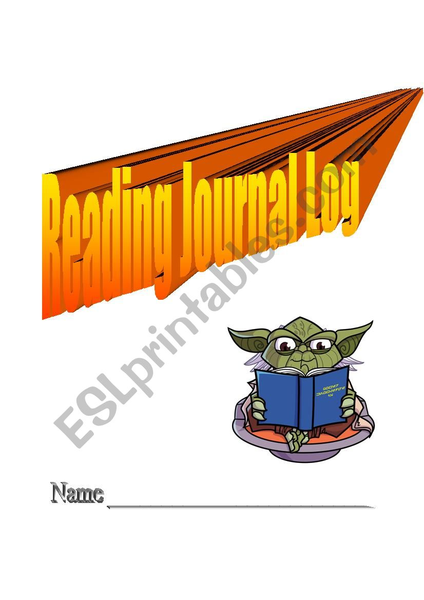 reading journal log worksheet
