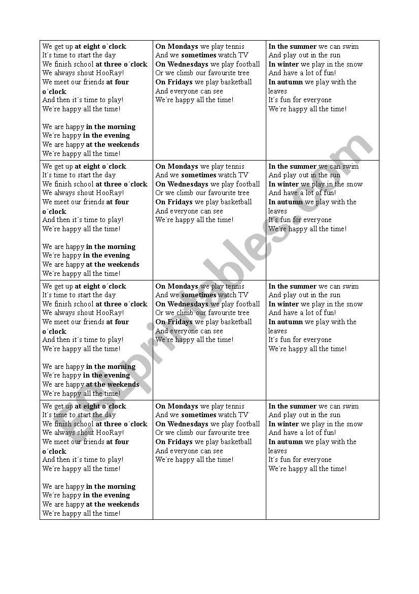 We are happy worksheet