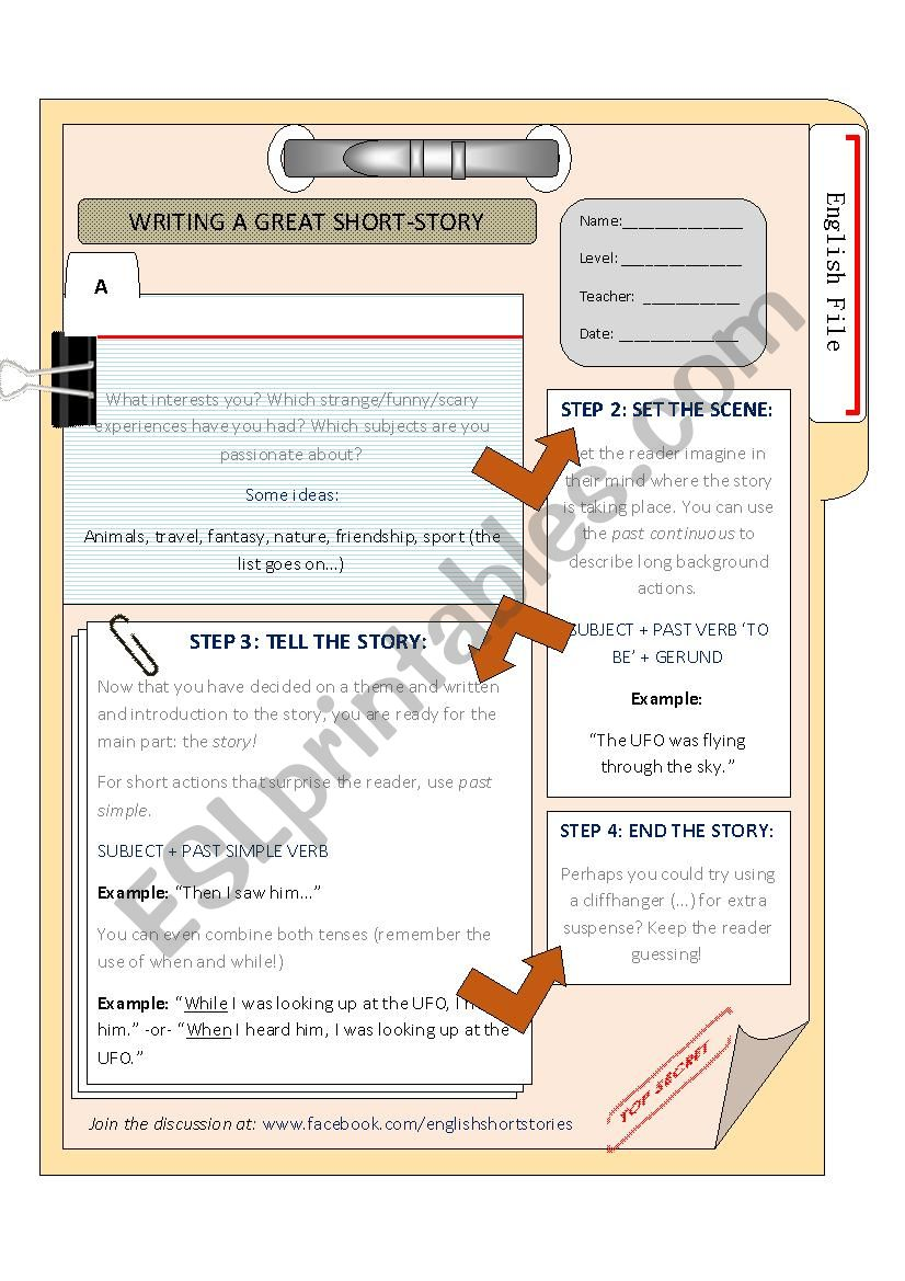 Creative Writing Guide worksheet