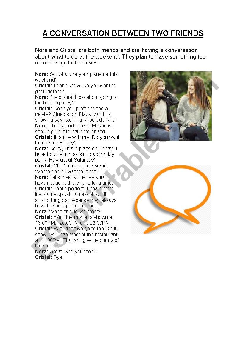 Role Play - Going out - ESL worksheet by AGUE