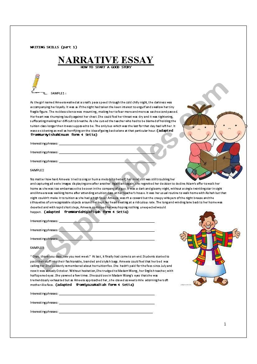 Narrative Writing - writing a story