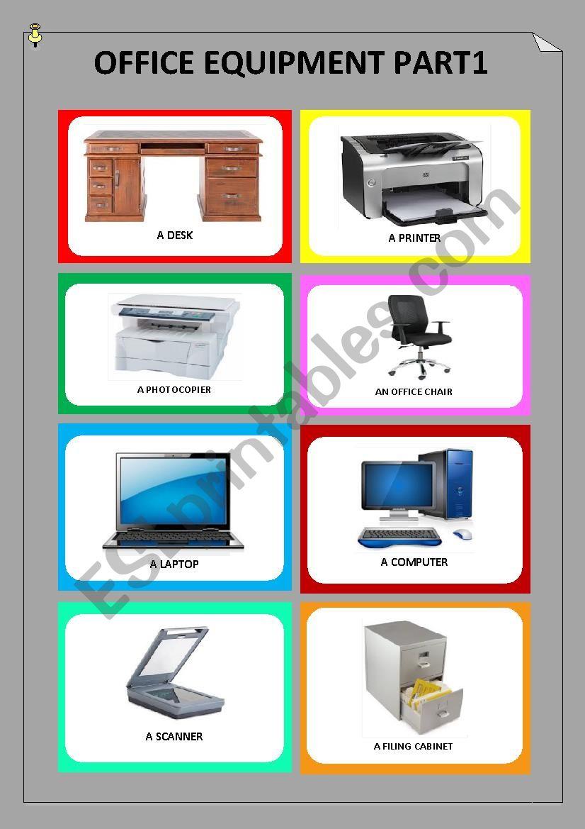 Office equipment Part 1 worksheet