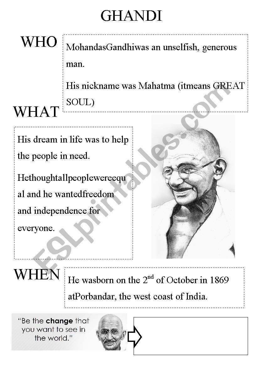 ghandi worksheet