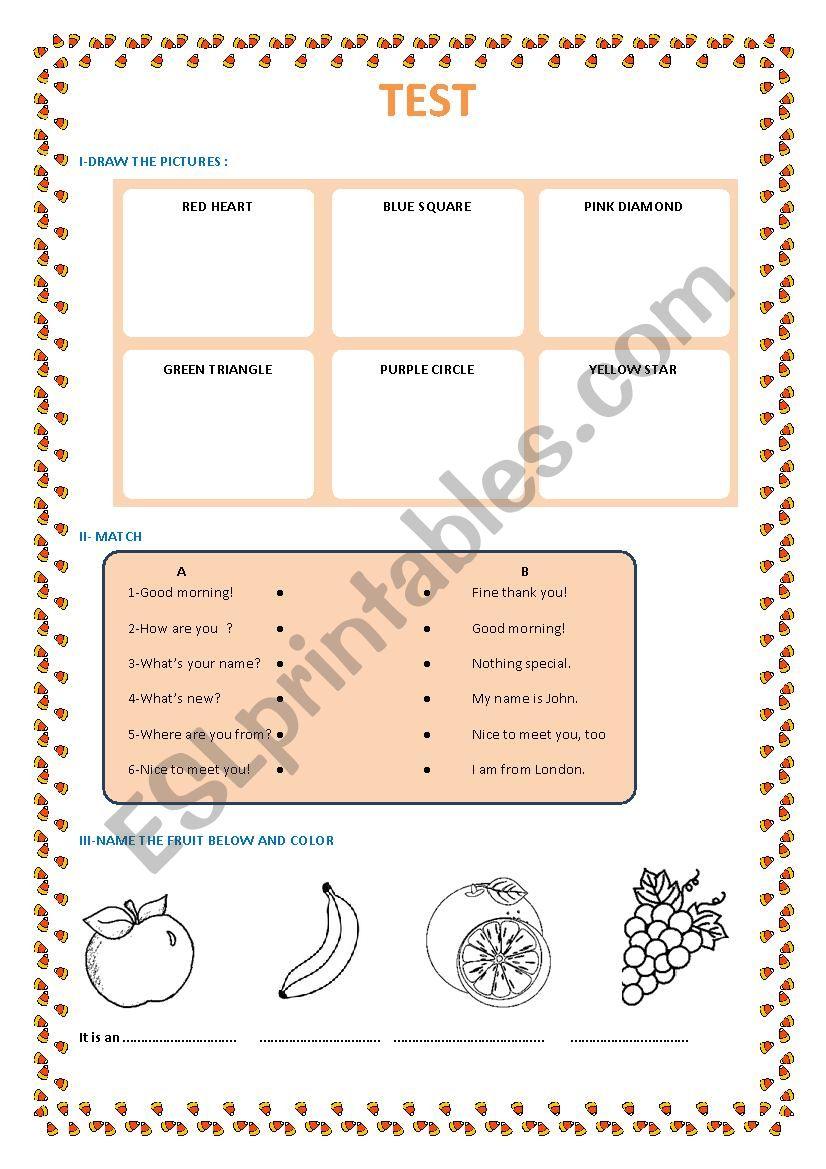 Exercice  worksheet