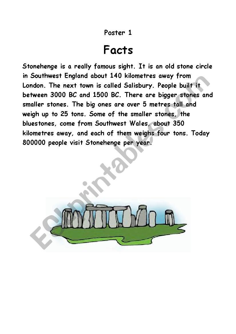 The mystery of Stonehenge worksheet