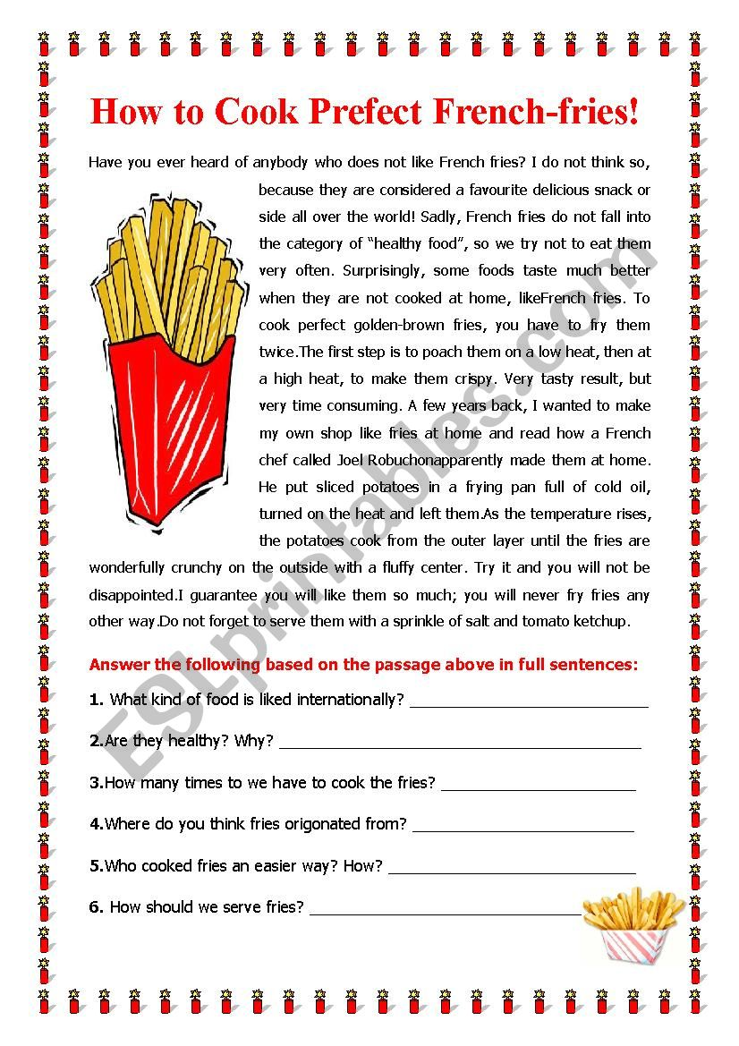 How to Cook the Perfect French Fries!