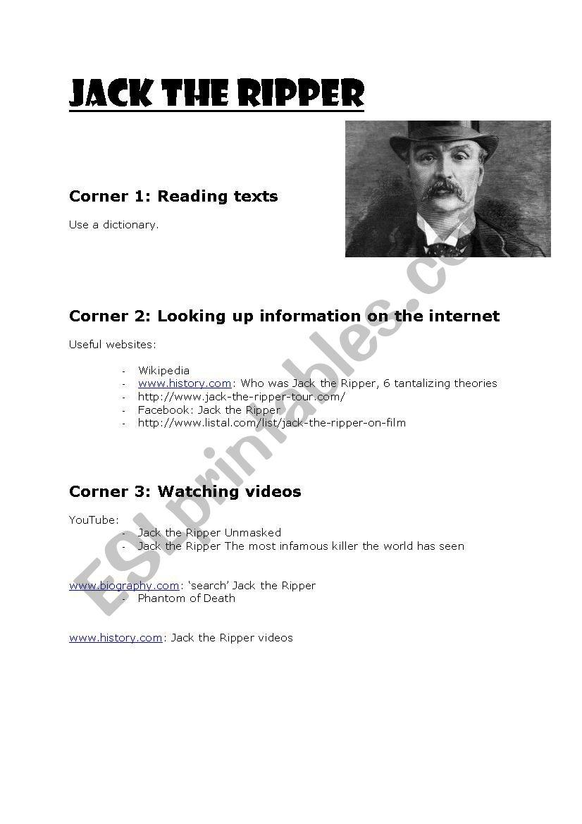Internet task: Jack the Ripper