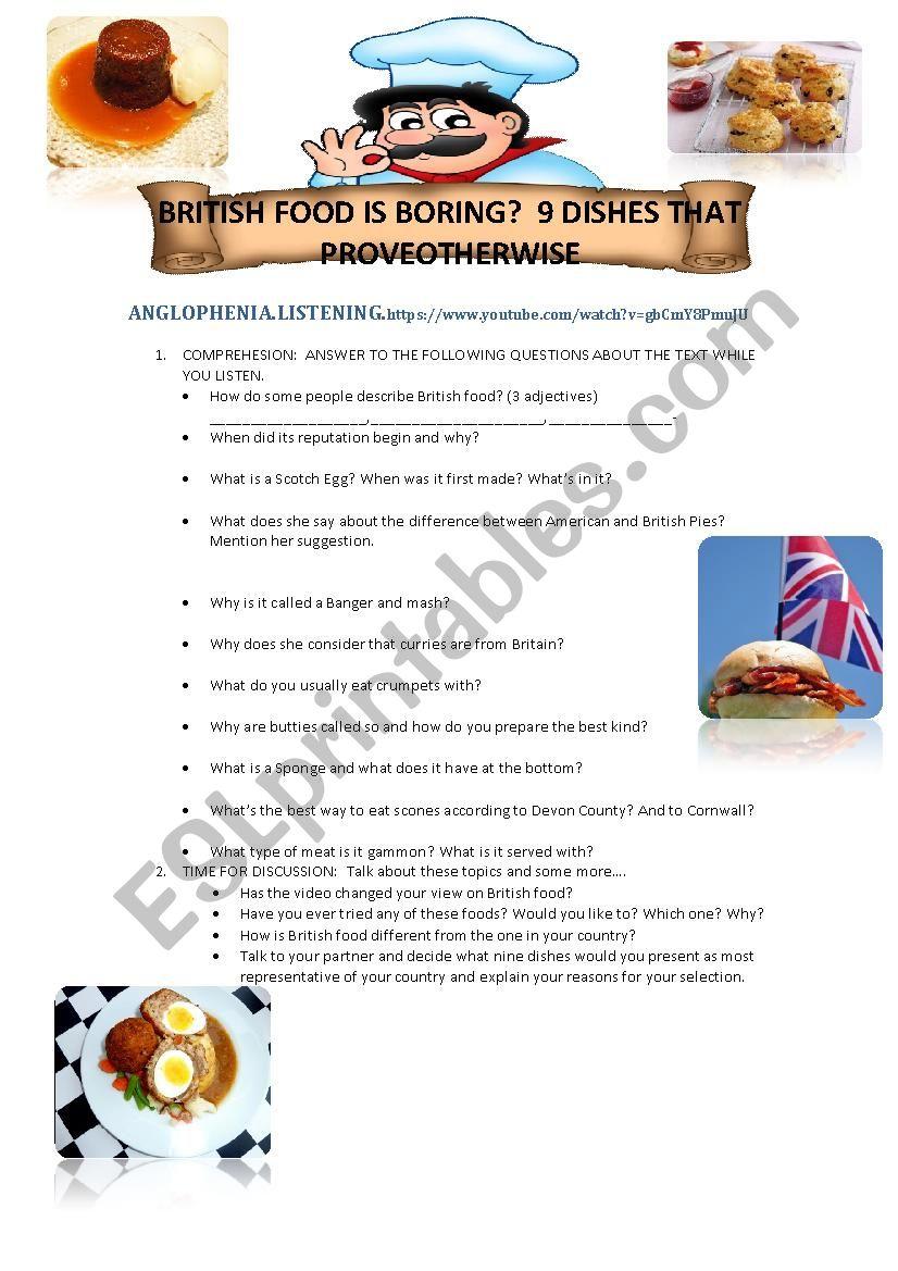 British Food according to Anglophenia