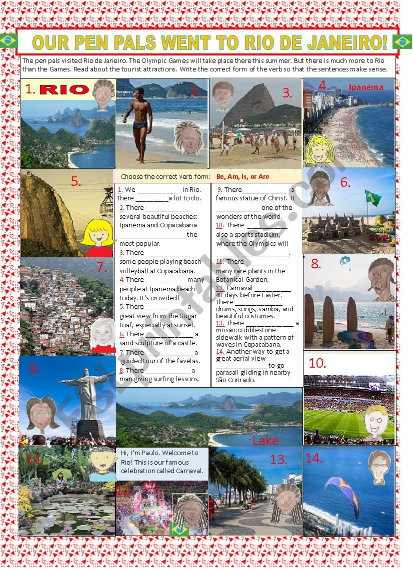 Our Pen Pals Went to Rio de Janeiro! -- There is, There are