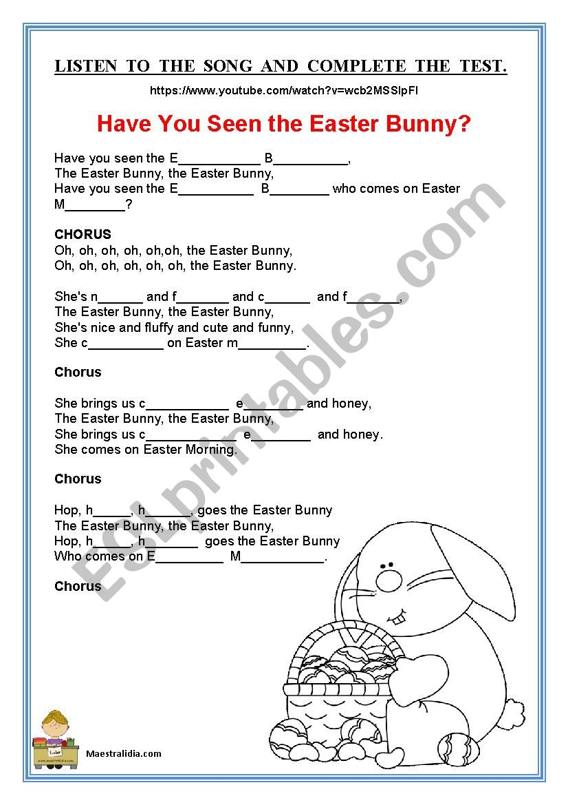 easter song listening activity