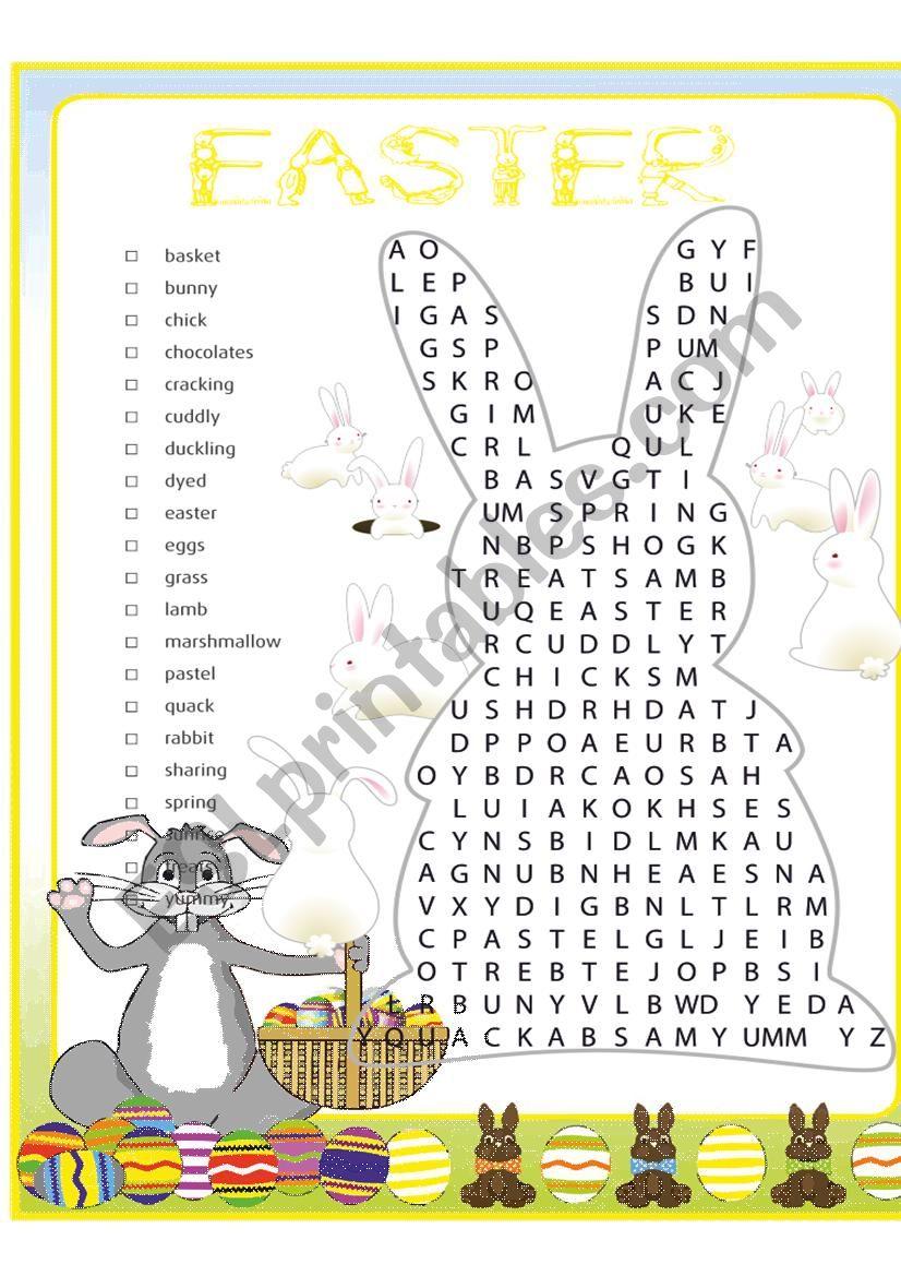 EASTER WORDSEARCH worksheet