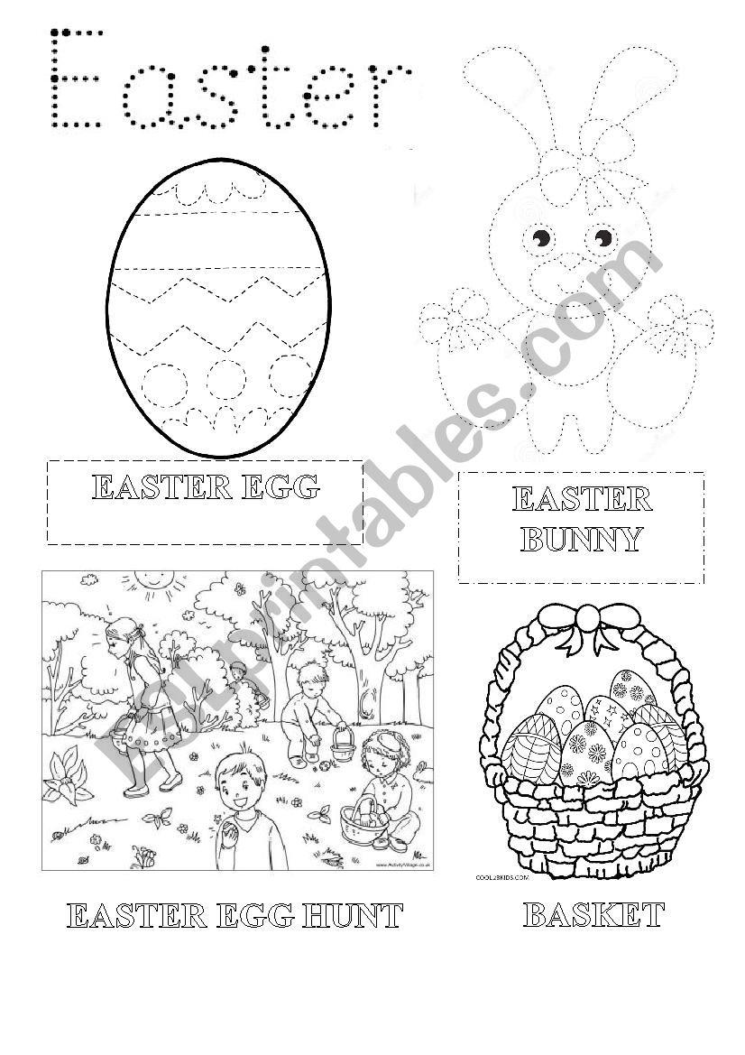 Easter vocabulary worksheet