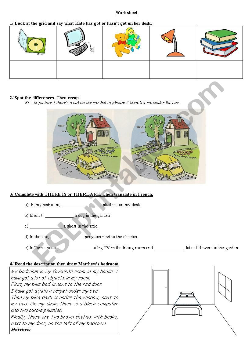 Worksheet House Describing worksheet