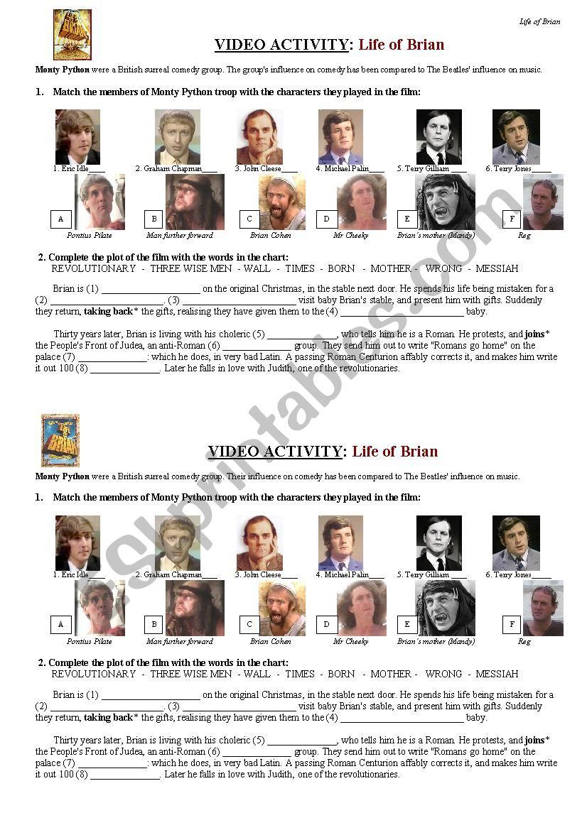 LIFE OF BRIAN (Monty Python) short version