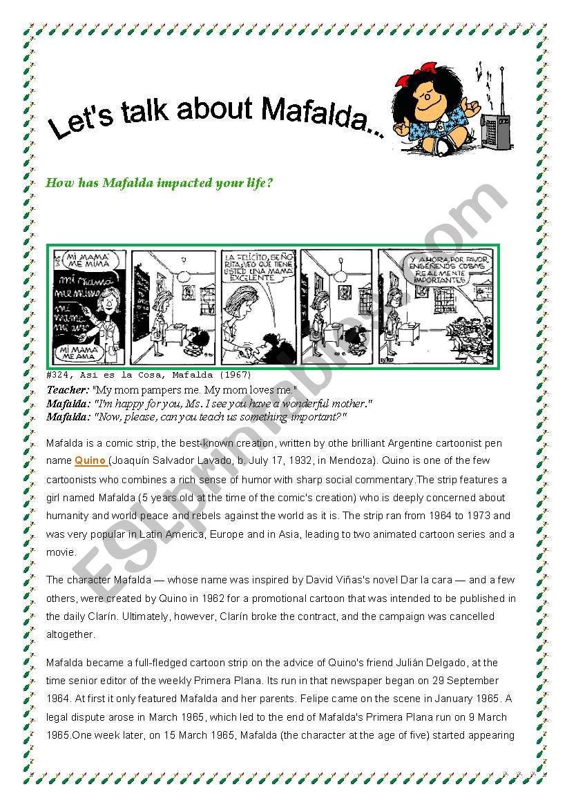 The History of Mafalda worksheet