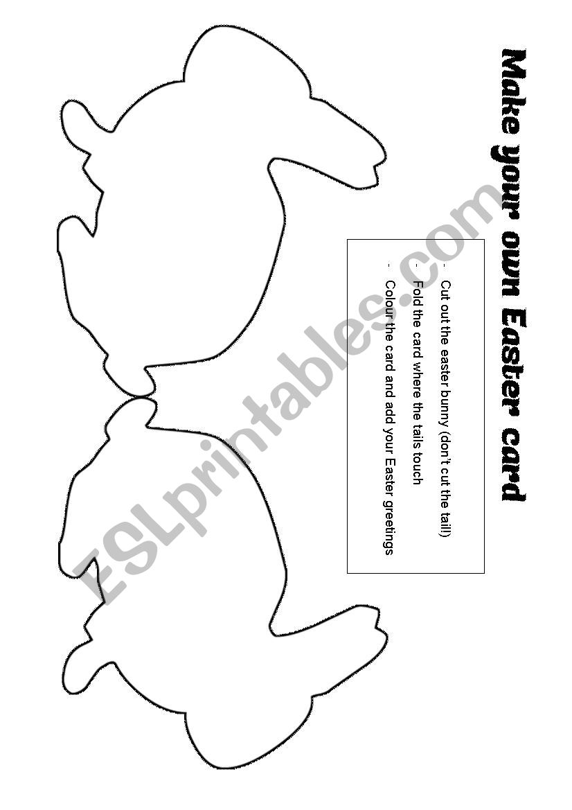 Make your own Easter card worksheet